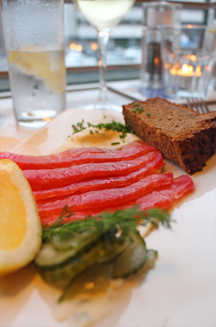 Electric salmon gravadlax cured in beetroot, lime & vodka served with dill mayonnaise